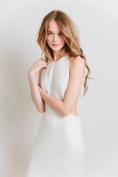 sarah seven sequin wedding dress