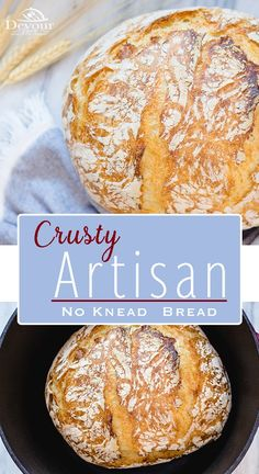 No Knead Artisan Bread is amazingly deliciou with only 4 ingredients it's easy to make. Flaky Crust w/soft bread inside is a must have recipe. 4 Ingredient Bread Recipe, Easy Keto Bread Recipe, Easy Bread Recipes, Healthy Recipes, Keto Recipes, Banana Bread Recipes, Recipe List, Quick Bread, No Bread Diet