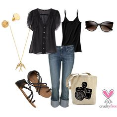 """Black"" by pbmhuck on Polyvore"