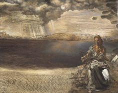 Salvador Dali - St Helena of Port Lligat, 1956 Dali Quotes, Salvador Dali Paintings, Religious Paintings, Surrealism Painting, Great Paintings, Oil Paintings, Spanish Artists, Art Database, Realism Art