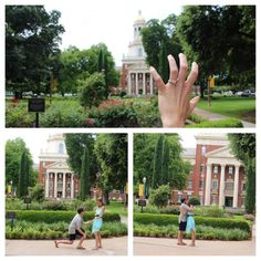 Engaged in front of Pat Neff! Proposal complete with a #SicEm by future #Baylor Bears at orientation. #BaylorProud