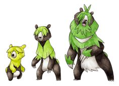 I know this is the 3rd grass/bear starter I've posted, but they are all so good! Shruber —> Bladber —> Browling Source.
