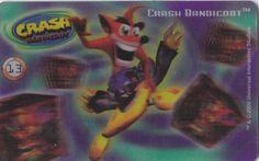CARD CARTA 3D  CRASH BANDICOOT MR. DAY PARMALAT 2000 CARTA N.  13  OTTIMA
