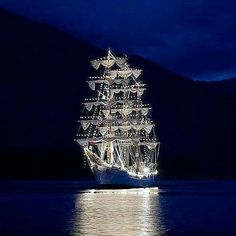 Christmas Ship at Garibaldi, Oregon Coast.