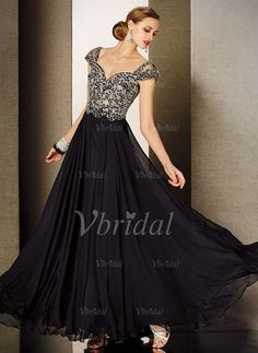 Evening Dresses - $220.43 - A-Line/Princess Sweetheart Floor-Length Chiffon Evening Dress With Beading (0175056030)