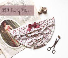 Ohhh Lulu 1309 Jane Woven Fabric Bikini Cut Knickers PDF Instant Download