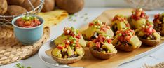 Stuffed with flavorful filling, drizzled with cheesy sauce, topped with pico de gallo—these vegan potato skins offer pure bliss with every bite. Plant Based Snacks, Plant Based Whole Foods, Plant Based Eating, Plant Based Recipes, Whole Food Recipes, Vegan Recipes, Vegan Food, How To Make Cheese Sauce, Dude Food