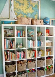 The Bottom of the Ironing Basket looks at book storage for kids http://thebottomoftheironingbasket.blogspot.co.uk/2013/10/house-home-book-storage-for-childrens.html?utm_source=feedburner&utm_medium=feed&utm_campaign=Feed:+TheBottomOfTheIroningBasket+(The+Bottom+of+the+Ironing+Basket) Bookcase, Shelves, Home Decor, Shelving, Homemade Home Decor, Bookcases, Interior Design, Decoration Home, Home Interiors