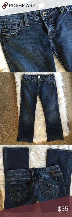🆕 Silver Jeans Santorini crops Beautiful jeans! Great condition. 👺NO TRADES DONT ASK! ✌🏼️Transactions through posh only!  😻 friendly home 💃🏼 if you ask a question about an item, please be ready to purchase (serious buyers only) ❤️Color may vary in person! 💗⭐️Bundles of 5+ LISTINGS are 5️⃣0️⃣% off! ⭐️buyer pays extra shipping if likely to be over 5 lbs 🙋thanks for looking! Silver Jeans Jeans Ankle & Cropped