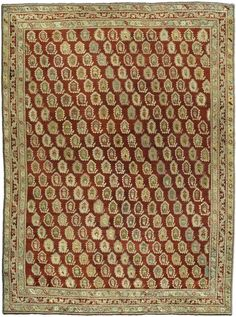 In contrast to Persian rugs, Turkish rugs of the nineteenth century were less sophisticated, brighter in color, more rectilinear, and were more coarsely-woven.