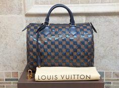 Louis Vuitton Paillettes Pailettes Sequins Bag - Satchel in Blue