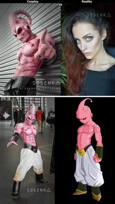 Kid Buu cosplay - this girl just nailed it