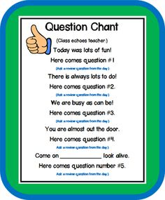 Free question chant.
