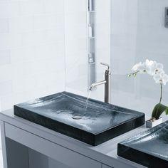 Antilia - a gorgeous glass sink by Kohler.