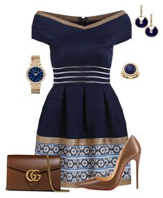 """""""Untitled #526"""" by angela-vitello on Polyvore featuring Christian Louboutin, Gucci, Michael Kors and Apt. 9"""