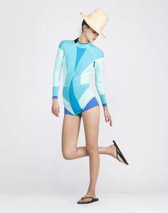 Cynthia Rowley - Colorblock Wetsuit   Surf & Swim