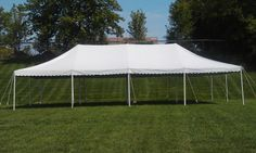 20x40 pole tent - perfect for outdoor weddings, church events, and graduations! 844-TENT PRO