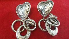 Items for sale by Retro Costume, Diamond Earrings, Pierced Earrings, Vintage Silver, Heart Ring, Dangles, Ebay, Jewelry, Shop