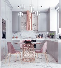 A great look for a small kitchen. Soft a dusty colors. By Nama interior design … A great look for a small kitchen. Soft a dusty colors. By Nama interior design. Home Decor Kitchen, Interior Design Kitchen, New Kitchen, Home Kitchens, Interior Decorating, Kitchen Ideas, Kitchen Modern, Kitchen White, Apartment Kitchen