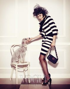 "The Terrier and Lobster: ""Pet Your Girl"" by Kim Bo Sung for Vogue Korea"