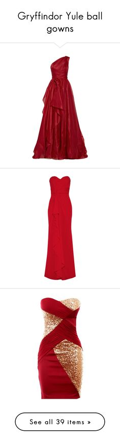 """Gryffindor Yule ball gowns"" by weeby ❤ liked on Polyvore"