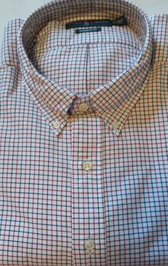 25d9104e NWT Ralph Lauren RED/BLUE Checked Classic Fit long sleeve buttonup Shirt  2XB Big #