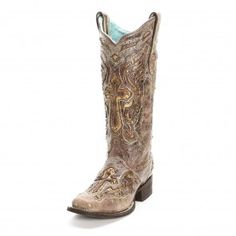 Corral Distressed Cross Cowgirl Boots