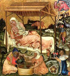 Jozef doet het huishouden: Meester van Hohenfurth, 1350