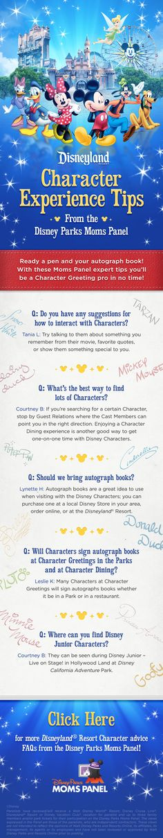 Check out these Disneyland character experience tips from Disney Parks Moms Panel!