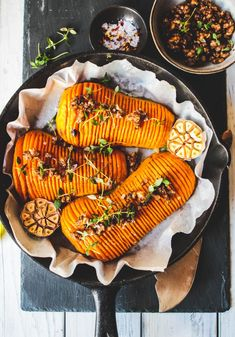 Butternut Squash Hasselbacks with Indian spices - Rebel Recipes - Butternut Squash Hasselbacks with Balsamic walnuts A super easy & healthy recipe packed with flavou - Delicious Vegan Recipes, Easy Healthy Recipes, Raw Food Recipes, Vegetarian Recipes, Easy Meals, Dinner Recipes, Fast Recipes, Vegan Meals, Dinner Ideas