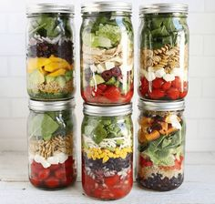Les salades en bocaux – Simplement Cru