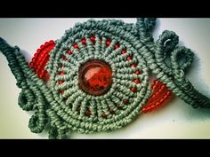 Orbit bracelet with loops - micromacrame tutorial - YouTube