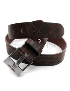 (JPB010-DARKBROWN) Casual Leather Belt from W28 to W35