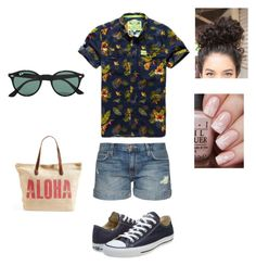 Niall's Beach Babe by basicbird on Polyvore featuring polyvore fashion style Current/Elliott Converse Rip Curl Ray-Ban Superdry clothing