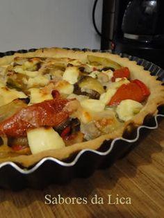 Torta de legumes e queijo branco