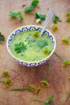 Pineapple Cucumber Gazpacho #vegan #soup #recipe