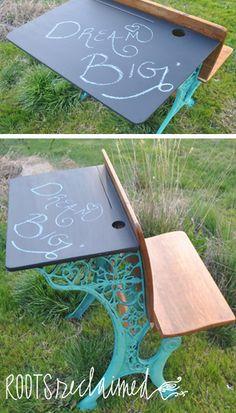 Before & After: Vintage School Desk