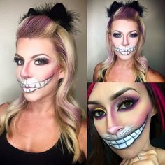 Inspired Chessier the Cat Halloween makeup using all Younique!