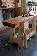 Heres the nearly completed shot of the handmade Roubo workbench that will be on the cover of the August 2010 issue of Popular Woodworking Magazine. The only thing missing is me showing off a bit more sun-deprived flesh and a non-Botox pout look for tha Kids Woodworking Projects, Woodworking Furniture Plans, Woodworking Skills, Fine Woodworking, Woodworking Magazine, Wood Furniture, Woodworking Patterns, Woodworking Machinery, Woodworking Workshop