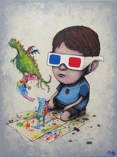 """Fairy Tale"" by #Dran #streetart #art #graffiti #drawing #kid #monster #3d #cute #funny #adorable"