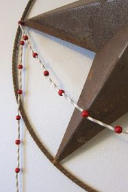 Inspired Whims: Paper Straw and Wood Bead Garland