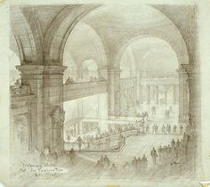 Metropolitan Museum - Hugh Ferriss' architectural sketches, 1915-1961