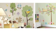 Woodland Animals and Scroll Tree Room Package - Wall Sticker Outlet
