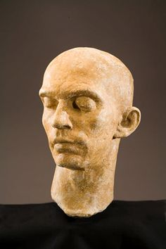 Head of a Man (Harald Kreutzberg) by Richmond Barthe, circa terracotta, 12 x x 9 inches African American Artist, American Artists, Visual And Performing Arts, Black Artists, Art Institute Of Chicago, Sculpting, Faces, Terracotta, Education