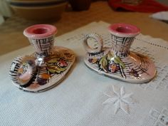Vintage Hull Pair of Blossom Flite Candle Holders | SelectionsBySusan - Ceramics & Pottery on ArtFire