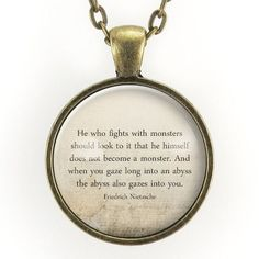 Friedrich Nietzsche Abyss Quote Necklace – CellsDividing