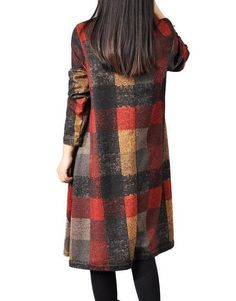 Women cotton loose autumn dress – Buykud