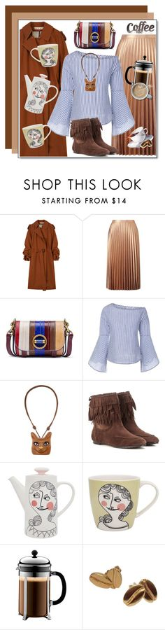"""Happy National Coffee Day !"" by anne-irene ❤ liked on Polyvore featuring Michael Kors, Marni, Miss Selfridge, Tory Burch, Loewe, Aquazzura, Sandra Isaksson, Bodum and Rustic Arrow"