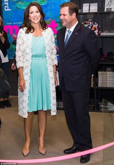 Busy schedule: Since returning from Rio, Crown Princess Mary of Denmark has been attending an array of official events... and on Wednesday, she opened an art exhibition