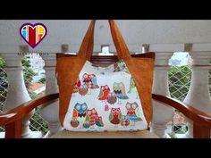 Bolsa sacola das Corujas I - Maria Adna Atelie - Cursos e aulas de bolsas e sacolas de tecido - YouTube